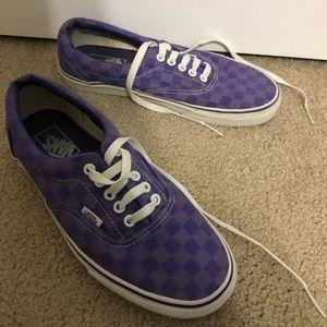 Purple checkered vans